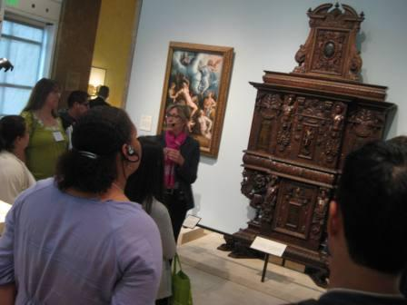 Curator Antonia Bostrom toured us around the newly designed European sculpture and decorative arts galleries.