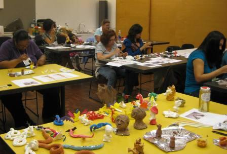 Teachers also learned fun activities for K-2nd grade students using clay.