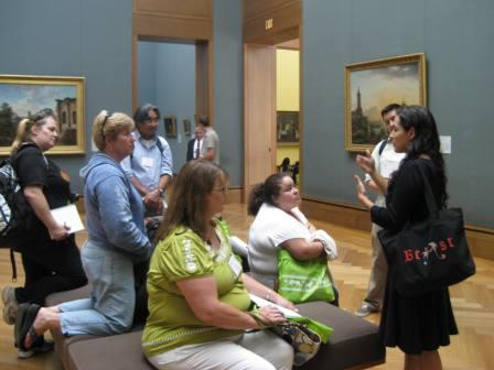 Museum educator Veronica Alvarez describes how to reach multiple learners by discussing a work of art in a variety of ways.