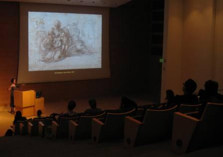 Curator Stephanie Schrader gave an engaging and informative talk about the drawing collection.