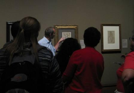 Curator Julian Brook's tour of the new exhibition of Italian Renaissance drawings was a big hit with the teachers.