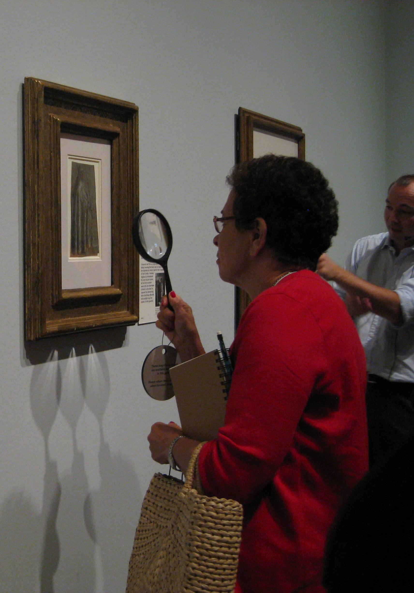 Magnifying lenses in the galleries offered us a closer look at details drawn by Renaissance artists.
