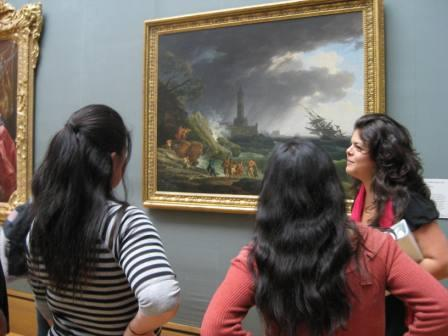 Museum educator Sandy Rodriguez offers suggestions for writing activities with painter Vernet's A Storm.