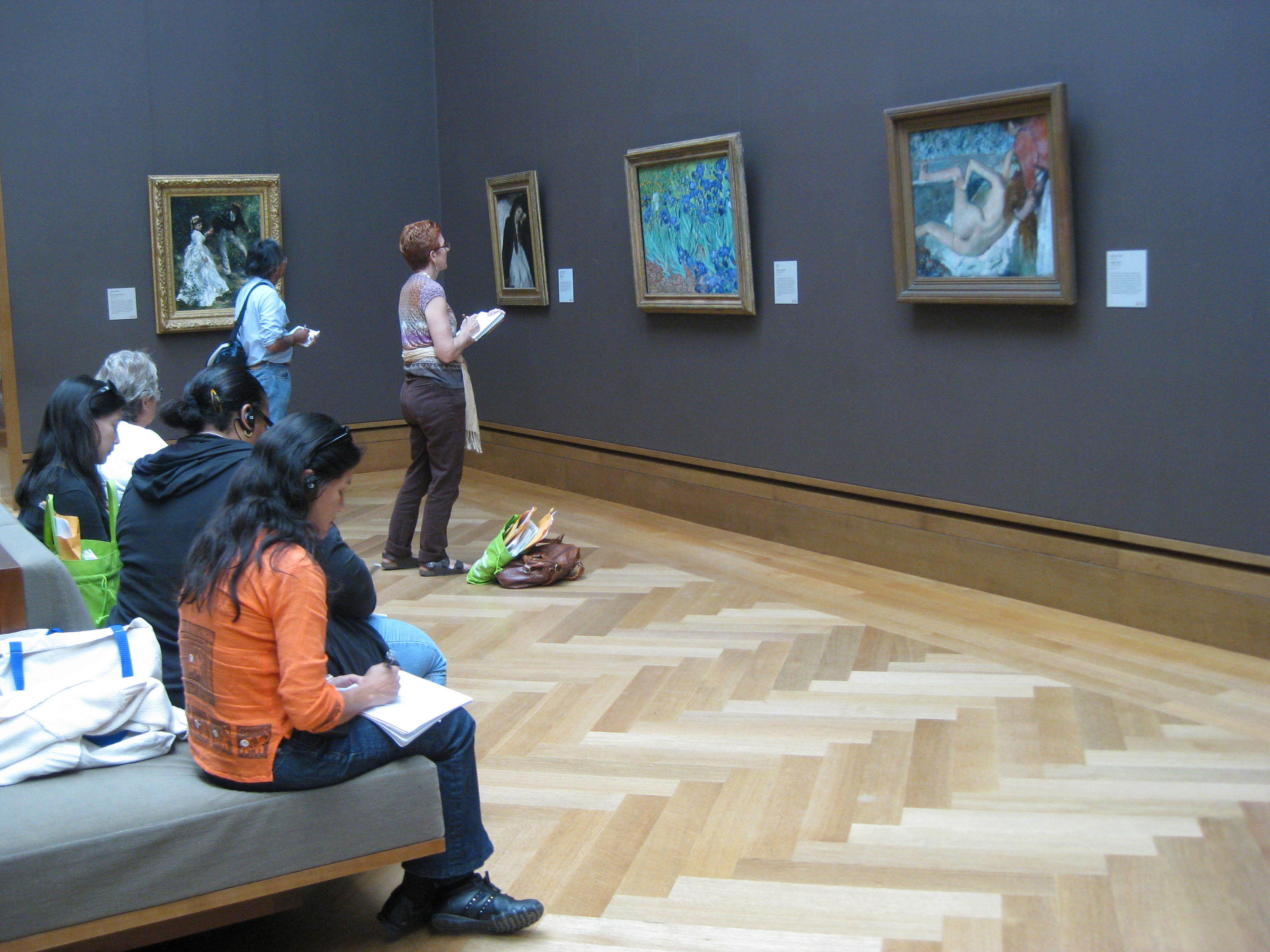 We were able to journal in quiet galleries before the museum opened to the publicat least for a little while!
