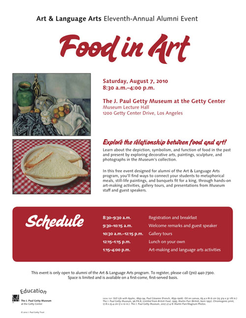 Art & Language Arts Alumni Event: Food in Art