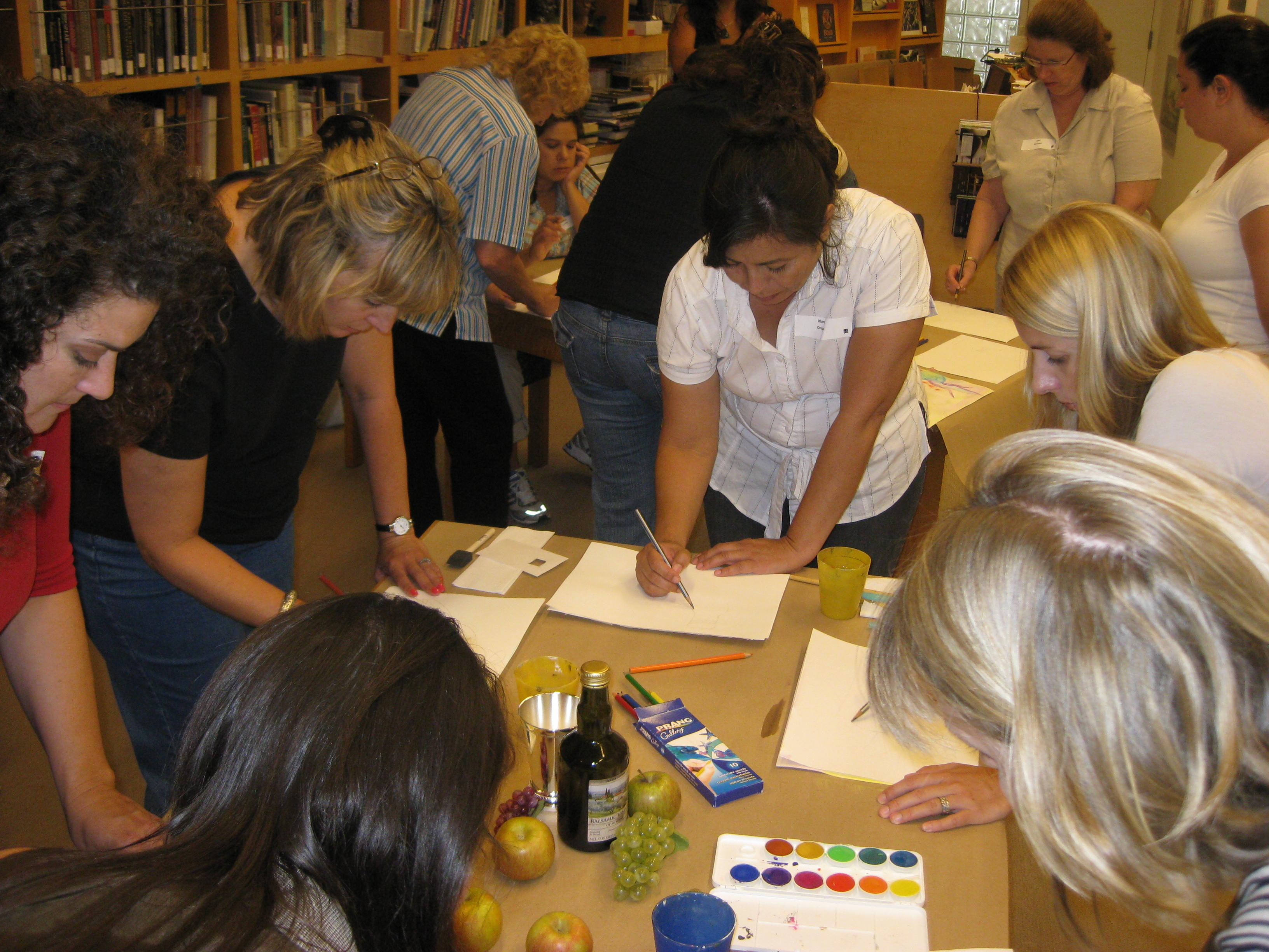 Teachers were so focused on their sketches that you could hear a pin drop in the room.