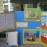 Kennedy E.S. teacher Lisa Heather displays her upper elementary students' dynamic compositions of still lifes.