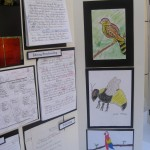 A detail of works of art by MaryAnn McCarter's talented students.