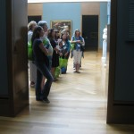 Because the galleries are closed to the public today, some of the hallways and rooms were dark!