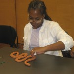 Teachers discovered innovative ways to create snake skin.