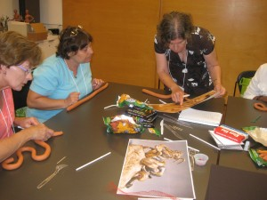 Snakes in sculptures such as Antoine-Louis Barye's Python and Gnu were the inspiration for this art-making activity.
