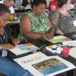 Teachers looked for inspiration in Centennial of Independence, a painting by Henri Rousseau.