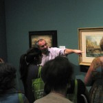 Curator Julian Brooks gave a tour of the exhibition Luminous Paper: British Watercolors and Drawings.