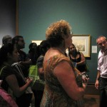 Teachers were captivated by the curator's knowledge (as well as his British accent).