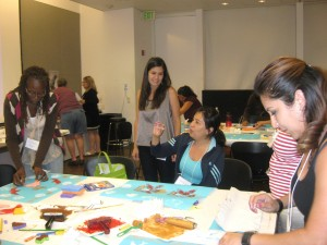 "Educator Alice Jackel led a decorative arts activity called ""If These Walls Could Growl."""