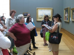 Educator Veronica Alvarez discusses the art of developing good questions about works of art.