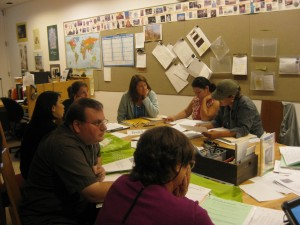 Teachers work in teams to develop their own lesson plans inspired by Getty works of art.