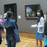 Jennifer Li discussed Rembrandt&#039;s Abduction of Europa and then led teachers in a lively improv game.