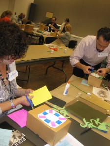 After viewing a fanciful clock in the Getty's collection, teachers created imaginative clocks of their own.