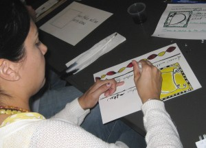 Teachers were encouraged to use primary colors and create patterns.