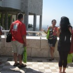Participants received a site tour of the Getty Center on a beautiful sunny day.