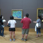 Since the galleries are not open to the public, four teachers were able to write about Van Gogh&#039;s Irises without having to push through the crowds.