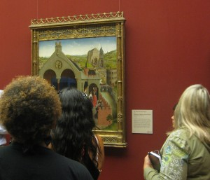 On a curator-led tour, teachers discover how artists use the tools of their trade to help them tell stories in their paintings.