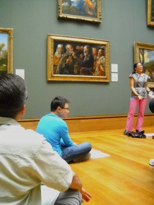 Museum educator Theresa Sotto discusses the benefits of open-ended questions to elicit meaningful responses from students.