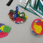 Teachers were encouraged to explore a variety of textures by using plastic utensils, straws, and modeling tools.
