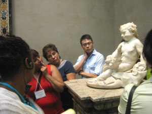 Teachers look closely at the textures that Bernini was able to render in this marble sculpture when he was only 19 years old.