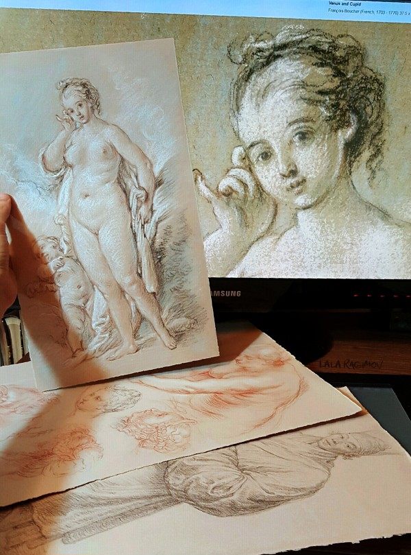 Sketches after artwork in the Getty Museum's collection