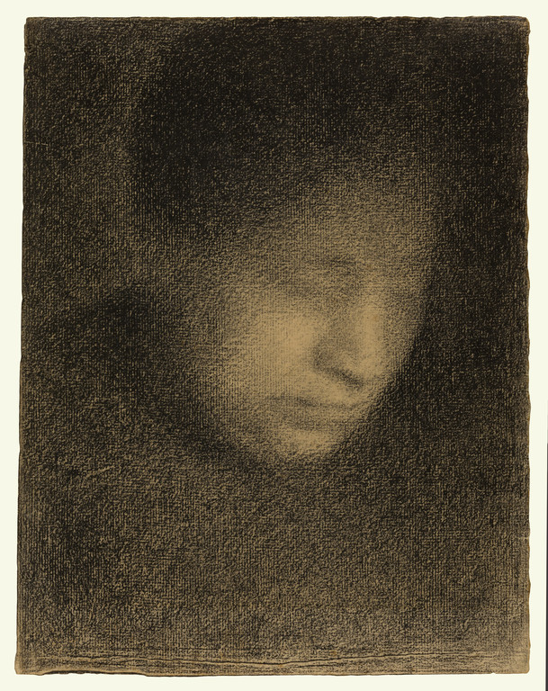 Madame Seurat, The Artist's Mother, about 1882–83, Georges Seurat, conte crayon on laid paper. The J. Paul Getty Museum