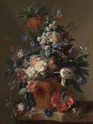 Vase of Flowers, Jan van Huysum (Dutch, 1682 - 1749); 1722; Oil on panel; 80.3 x 61 cm (31 5/8 x 24 in.); 82.PB.70
