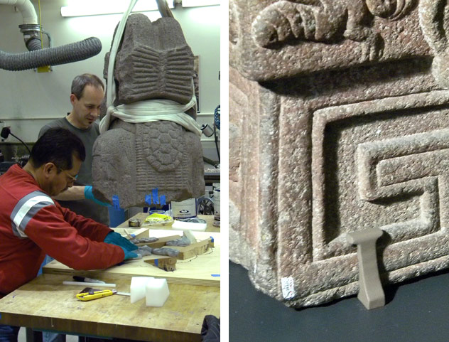 Interfaces and mounts used for The Aztec Pantheon and the Art of Empire