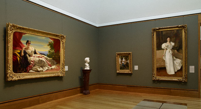 Gallery 202, with Franz Xaver Winterhalter's Princess Leonilla looking on at left