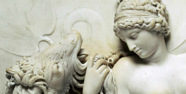 Venus Reclining on a Sea Monster / Deare - detail of Venus and the monster