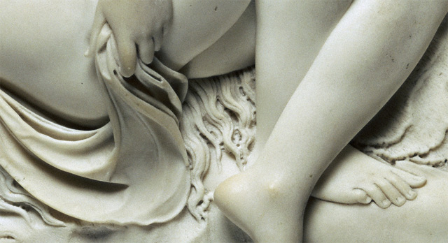 Venus Reclining on a Sea Monster / Deare - detail of Venus's foot and drapery
