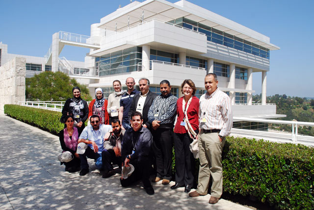 Top, left to right: Woroud Samara, Samar al-Habahbeh, Catreena Hamarneh, Adam Lodge (Farallon Geographics), Khaled Ziout, Ali al-Owaisi, Alison Dalgity, Sa'te Masadeh; Bottom row, left to right: Azadeh Vafadari (GCI consultant), Ahmad Lash, Tawfiq al-Huniti, Michael Aronowitz
