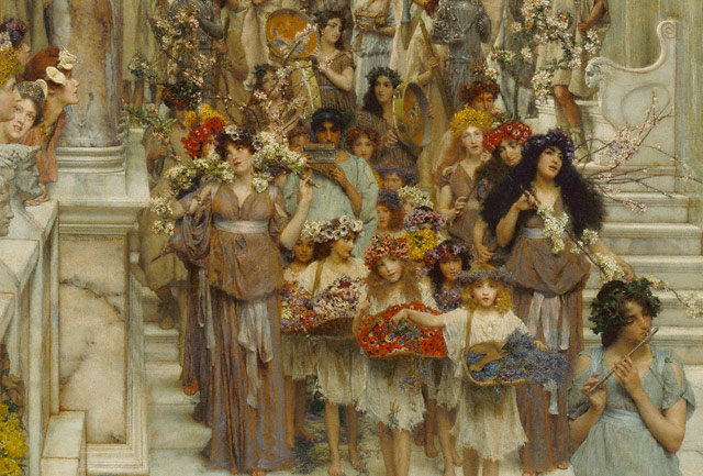 &lt;em&gt;Spring&lt;/em&gt; (detail), Lawrence Alma-Tadema, 1894
