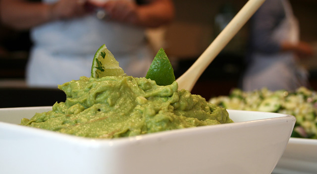Guacamole with a dash of lime