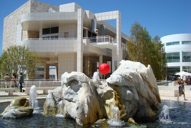 Museum Courtyard at the Getty Center by Jen Singson