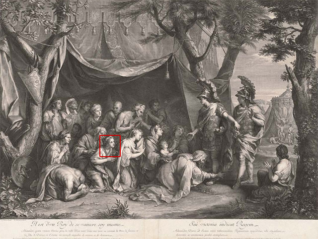 Queens of Persia at the Feet of Alexander (Tent of Darius) / Gérard Edelinck after Charles Le Brun