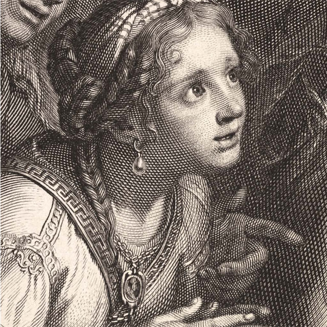 Queens of Persia at the Feet of Alexander (detail), Gérard Edelink after Charles Le Brun, ca. 1675