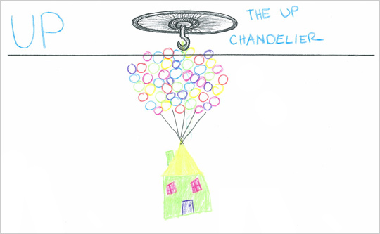 "Kate Bennett's ""The <em>Up</em> Chandelier"""