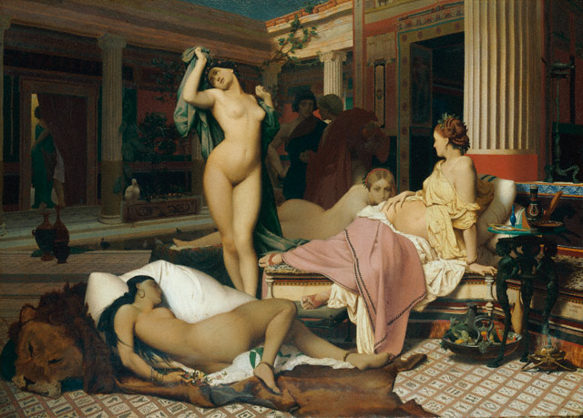 <em>A Greek Interior</em>, Jean-Léon Gérôme, 1850. Oil on canvas. Collection of Lady Micheline Connery
