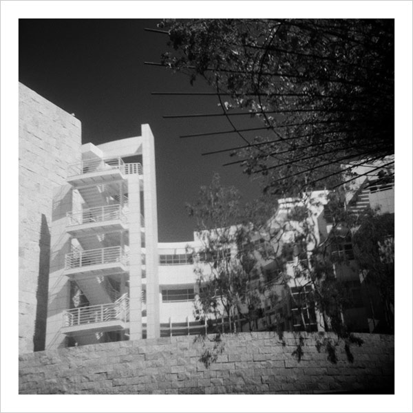 The Getty Research Institute at the Getty Center - taken with a Diana camera