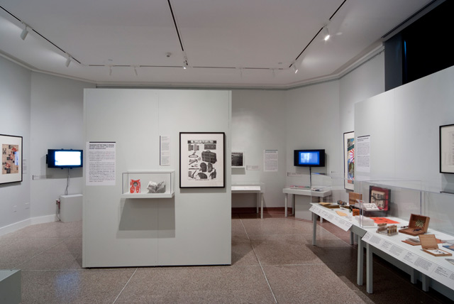 Installation view of <em>Art, Anti-Art, Non-Art: Experimentations in the Public Sphere in Postwar Japan, 1950-1970</em> at the University of Michigan Museum of Art. Photo: Randy Stegmeyer