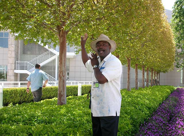 Docent George Terrell at the Getty Center