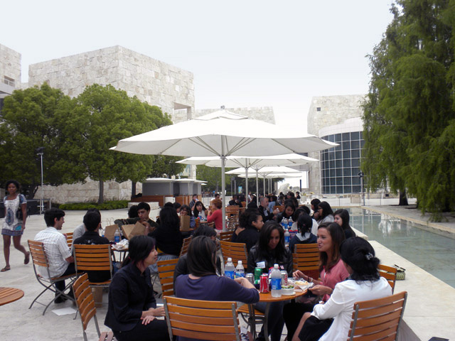 Talking over lunch at the MUI Program Arts Summit