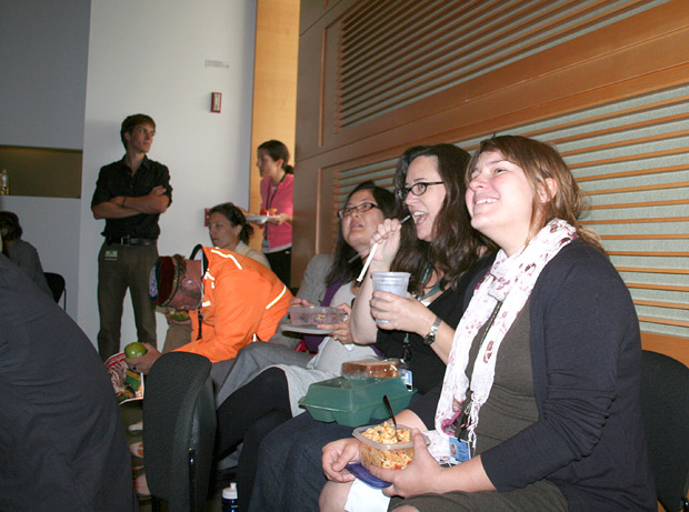 The agony and ecstasy of soccer--over lunch in the Getty Research Institute Lecture Hall
